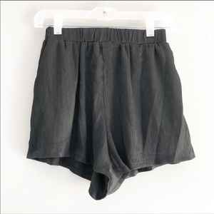 LF Here Comes The Sun High Rise Flowy Black Shorts